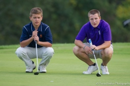 Cam and Colten study the green