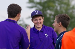 Congratulating Strasburg's Reese for his eagle